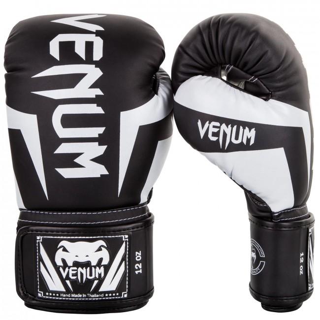 venum elite bokshandschoen zwart/wit