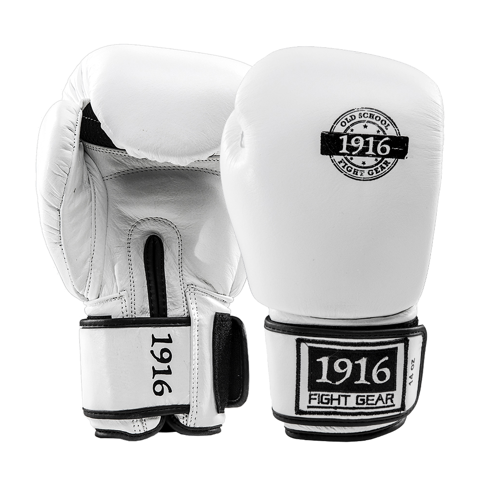 1916 Kickboks Set Leer Wit