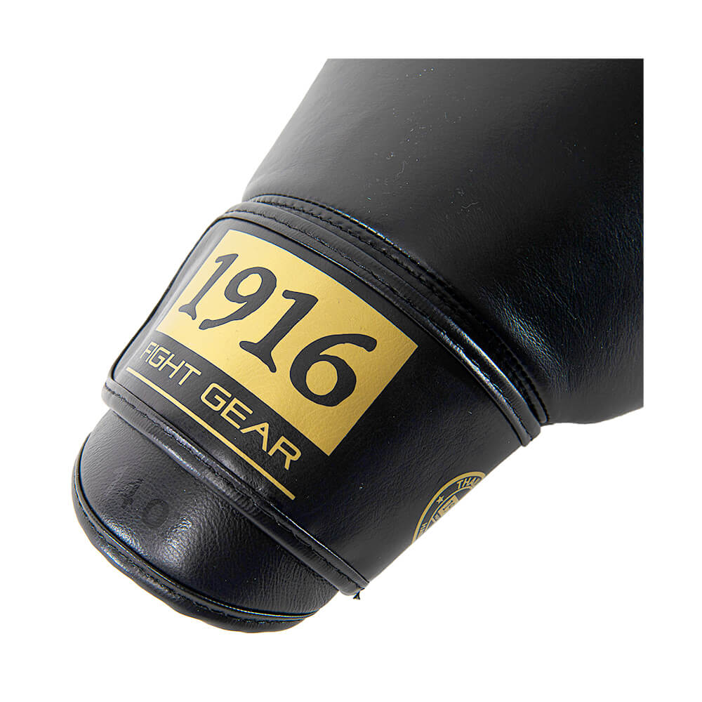 1916 bokshandschoen victory zwart/goud