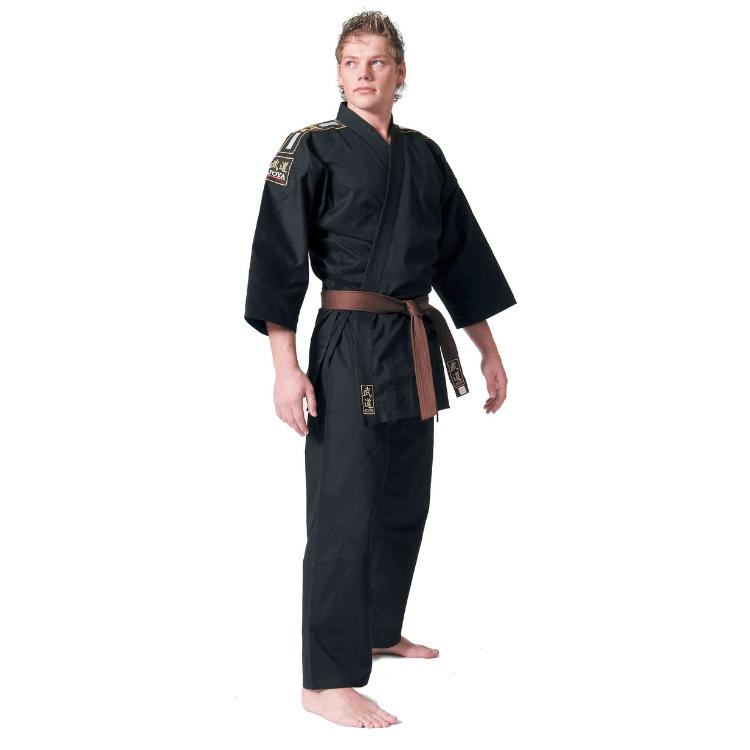 Joya karatepak standaard zwart met embleem